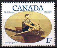 PIA  -  CANADA  -  1980  : Omaggio A Ned Hanlan - Campione Della Canoa -    (Yv 741) - Canottaggio