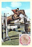 MONACO CARTE MAXIMUM  NUM.YVERT 893 SPORT JEUX OLYMPIQUES MUNICH EQUITATION CHEVAUX - Maximumkarten (MC)