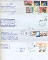 Kazakhstan. Four Envelopes Passed The Mail. Two Registered - Kazakhstan