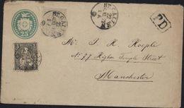 Suisse Helvetia Assise Dentelées YT 33 Et 34 Très Rare Entier Postal St Gallen Pour Grande Bretagne Rare Composition - 1862-1881 Sitted Helvetia (perforates)