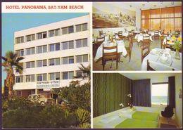 Israel Hotel PANORAMA Bat Yam Beach Tel Aviv Color Postcard - Bar Resturant Kosher - Israel