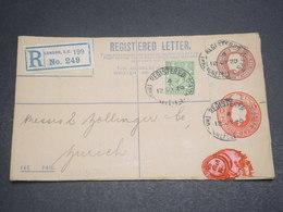 GRANDE BRETAGNE - Entier Postal En Recommandé De Londres Pour La Suisse En 1920 - L 12242 - Stamped Stationery, Airletters & Aerogrammes