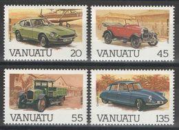 Vanuatu - YT# 755-758 ** - Automobiles - 1987 - Vanuatu (1980-...)