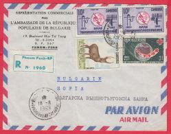 """222669 / 1969 LETTER """" BULGARIA AMBASSADE """" ANIMALS UIT RED CROSS Cambodge Kambodscha - Cambodia"""