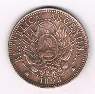 2 CENTAVOS 1893 ARGENTINIE /19G/ - Argentina