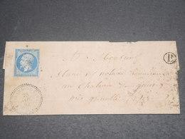 FRANCE - Lettre De Villard De Lans Pour Grenoble En 1862 , Affranchissement Napoléon - L 12249 - Poststempel (Briefe)