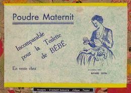 BUVARD :  Poudre MATERNIT Incomparable Pour La Toilette De Bébé   (Nuage Vert ) - Perfume & Beauty