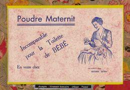 BUVARD :  Poudre MATERNIT Incomparable Pour La Toilette De Bébé   (Nuage Orange ) - Perfume & Beauty