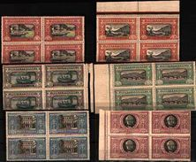 85593) Italia Regno 1923 Sass. 151-156 Nuovi ** 100% Manzoni In Quartina - 1900-44 Vittorio Emanuele III