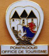 Z  312 )...BLASON..../...POMPADOUR.... Sur La Commune D'Arnac-Pompadour Dans Le Département De La Corrèze .CHATEAU - Cities