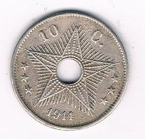 10 CENTIMES 1911 BELGISCH CONGO /27G/ - Congo (Belgian) & Ruanda-Urundi