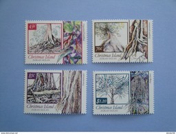1991  Christmas Island Yvert 345/8 ** Arbres Trees Scott 311/4  Michel 337/40  Flore Indigène - Christmas Island
