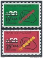 Réunion Cfa - 1972 - DOM TOM - N° 410/411 - Code Postal - Neuf ** - MNH - Reunion Island (1852-1975)
