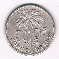50 CENTIMES 1925 BELGISCH CONGO /29G/ - Congo (Belgian) & Ruanda-Urundi
