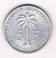 5 FRANCS 1958 BELGISCH CONGO /30G/ - Congo (Belgian) & Ruanda-Urundi
