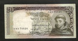PORTUGAL - BANCO De PORTUGAL - 20 ESCUDOS (1964) - SANTO ANTONIO - Portogallo