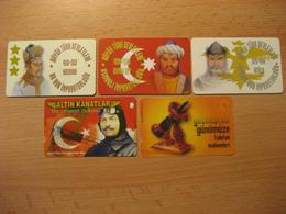 Türkei 5 Telecard Mit Chip Oder Wertspur Gebraucht - Turkey
