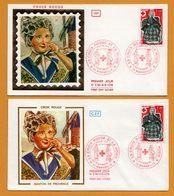 2 FDC - Croix Rouge Et La Poste - Soie - Soierie - Santon De Provence - Moulin - 13 Marseille - 1977 - 1970-1979