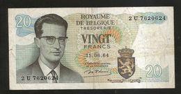BELGIQUE / BELGIO - THESAURIE - 20 FRANK / FRANCS (1964) - [ 6] Tesoreria
