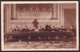 1929 Italia Italy Regno CONCILIAZIONE TRA L'ITALIA E IL VATICANO Lo Scambio Delle Credenziali Cartolina Postcard - Non Classificati