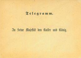 Seltener Formularumschlag Zur Beförderung Von Telegrammen An Die Kaiserin - Deutschland