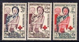 Laos N° 25  / 27 X  Au Profit De La Croix-Rouge, Les 3 Valeurs Trace De Charnière Sinon TB - Laos
