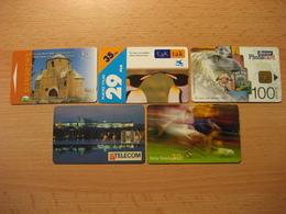 5 Verschiedene Telecard Mit Chip Gebraucht - Phonecards