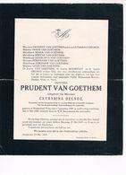 Prudent VAN GOETHEM 18801929 Et/v Catharina DELNOZ  Nieuwkerken-Waas - Obituary Notices