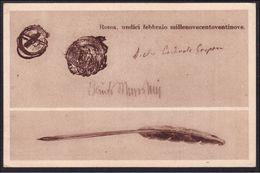 1929 Italia Italy Regno CONCILIAZIONE TRA L'ITALIA E IL VATICANO Le Firme I Sigilli, La Penna Cartolina Postcard - Non Classificati