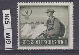 GERMANIA IMPERO, 1944Giornata Degli Eroi, 30 Pf, Nuovo Senza Gomma - Duitsland