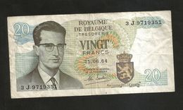 BELGIQUE / BELGIO - THESAURIE - 20 FRANK / FRANCS (1964) - [ 6] Treasury