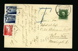 A5091) Czechoslovakia Austria Karte 2.1.35 Nachtaxiert Wien - 1918-1945 1. Republik