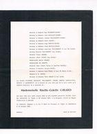 Risette-Colette GIRARD 1960 Marseille France - Obituary Notices