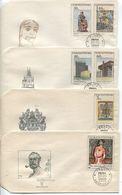 CSSR # 1792-7 FDC. Das Neue Prag Bauwerke,Präsidentenstandarte,Gemälde Kupka. Uz '1' - FDC