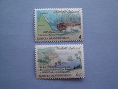 1991 Norfolk Yvert 497/8 ** Bateaux Ships  Scott 508/9 Michel 506/7 SG 516/7 Wreck Of Pandora - Ile Norfolk