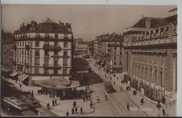 Geneve - Tram, Pharmacie, Animee - Phototypie - GE Genève