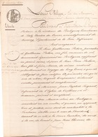 ACTE NOTARIE DU 4 JANVIER 1843 VENTE D UNE MAISON AU POULIGUEM - Manuscripts