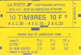 FRANCE - BOOKLET / CARNET, Yvert 1502 - 1990 - Marianne Briat - Usage Courant