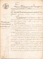 ACTE NOTARIE DU 10 FEVRIER 1844 OBLIGATION DE DOUZE MILLE FRANCS AU BOURG DE SAINT ANDRE DES EAUX - Manoscritti