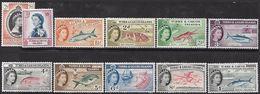 Turks & Caicos 1957  Sc#127-30   4 Diff Wildlife To The 1sh  MH*   2016 Scott Value $10.55 - Turks And Caicos