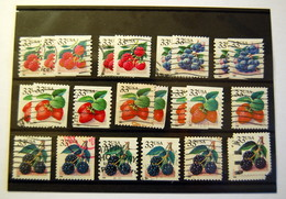 USA - 1999 / 2000 Fruits 24 Stamps (used) - Sammlungen