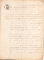 ACTE NOTARIE DU 2 JANVIER 1843 POUR LE LEG D UNE MAISON A SAINT ANDRE DES EAUX - Manoscritti