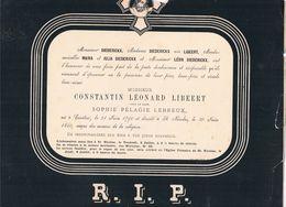 Constantin Lèonard LIBEERT 1790 1880 Veuf De Sophie Pélagie LEBREUX Courtrai - Kortrijk  St.Nicolas - St. Niklaas - Obituary Notices