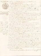 ACTE NOTARIE DU 24 JUILLET 1848 A BATZ COMMANDEMENT DE PAYER - Manuscripts