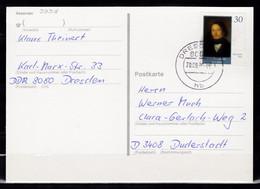 B-246, DDR, MiNr. 3358, EF Auf Karte - Cartas