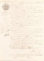 ACTE NOTARIE DU 15 JUILLET 1848 NOTIFICATION DE JUGEMENT AU POULIGUEM - Manuscripts