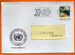 NATIONS UNIES  ADMINISTRATION POSTALE   1989 Lettre Entière N° DD 486 - Office De Genève