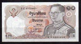 550-Thailande Billet De 10 Baht 1980 2C377 Sig.54 - Thailand