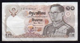460-Thailande Billet De 10 Baht 1980 5B418 Sig.52 - Thaïlande