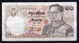 460-Thailande Billet De 10 Baht 1980 5B418 Sig.52 - Thailand